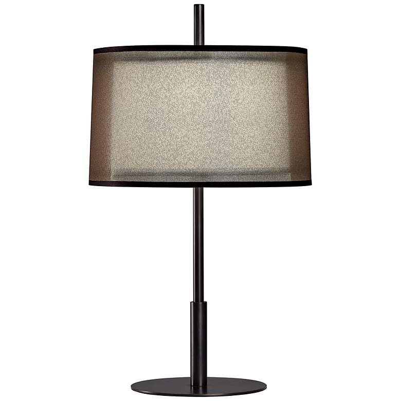 "Robert Abbey Saturnia Bronze 22 1/2"" High Table Lamp"