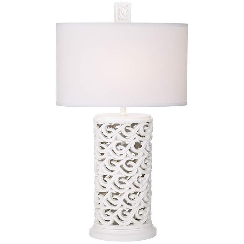 Kathy Ireland Waikoloa Beach White Table Lamp