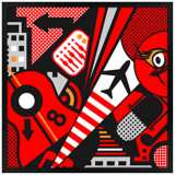 Mixup 2000 Red Wall Art