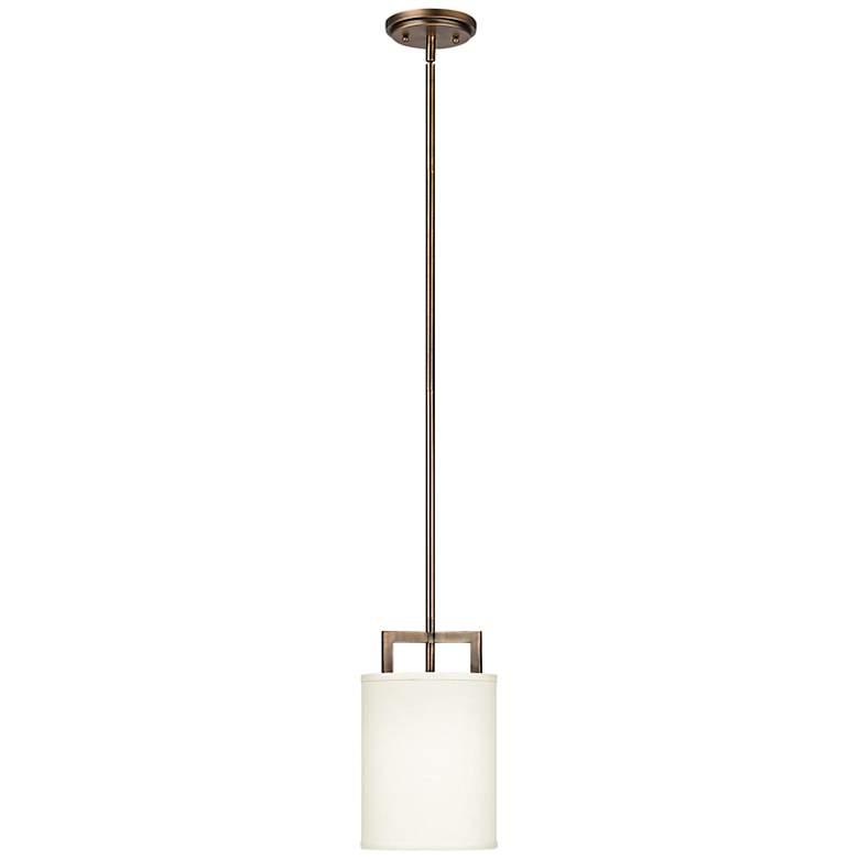 "Hinkley Hampton Collection 7"" Wide Bronze Mini Pendant Light"
