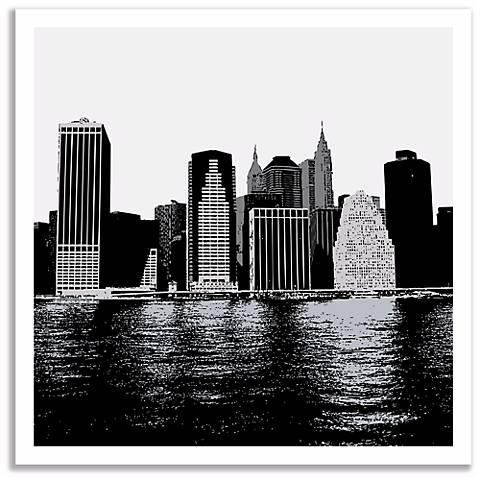 New York Skyline Wall Art - #P3627 | Lamps Plus