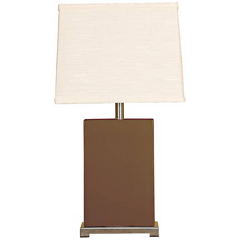 Splash Collection Espresso Ceramic Rectangular Table Lamp