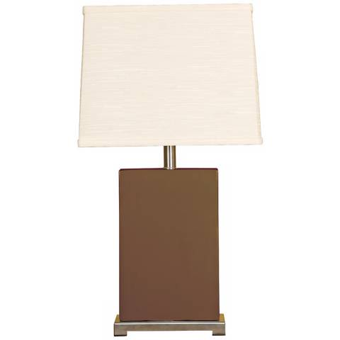 Splash Collection Espresso Ceramic Rectangular Table Lamp ...