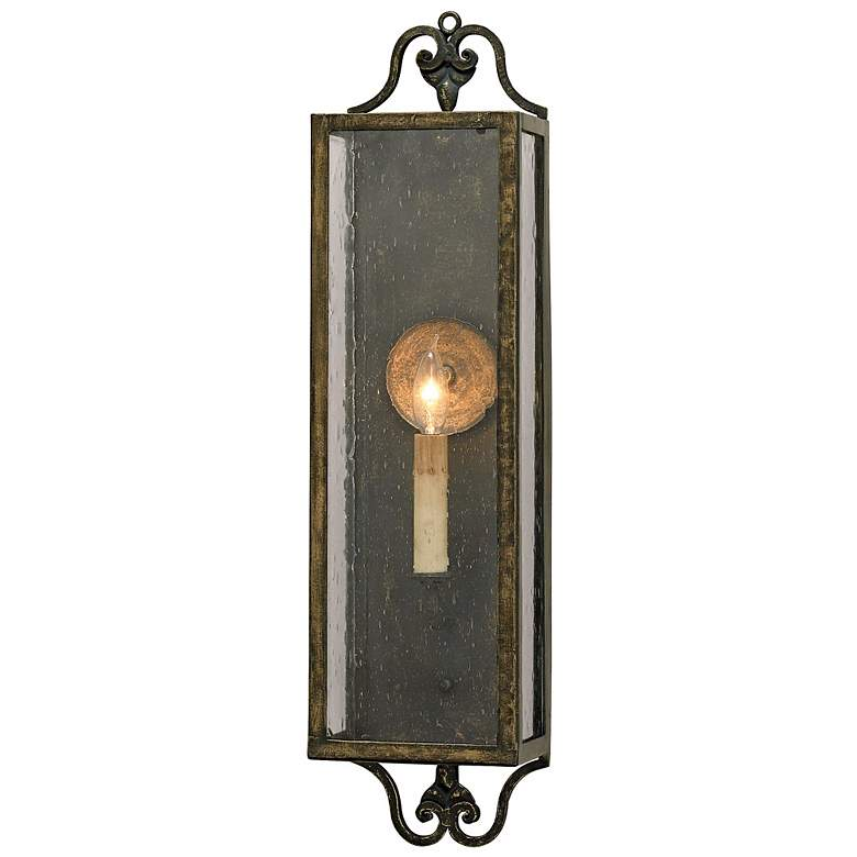 """Currey and Company Wolverton 24"""" High Candle Wall Sconce"""