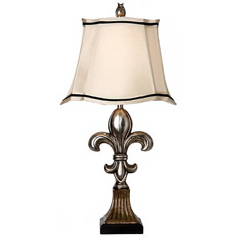 Antique and Comono Silver Fleur-De-Lis Table Lamp