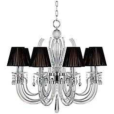 "Derry Street 8-Light Chrome 32"" Wide Crystal Chandelier"