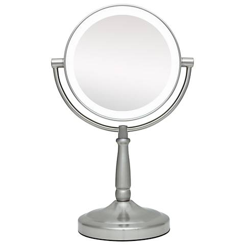 Cordless Led Lighted Pivoting 7 Quot Wide Vanity Mirror