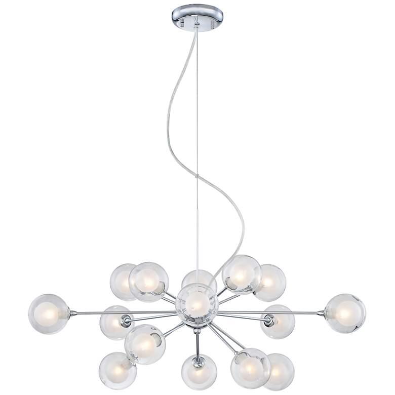 "Possini Euro Spheres 30"" Wide 15-Light Sputnik Glass Pendant"