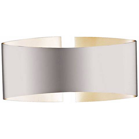 "Holtkoetter Voila 9 1/4"" Wide Stainless Steel Wall Sconce"