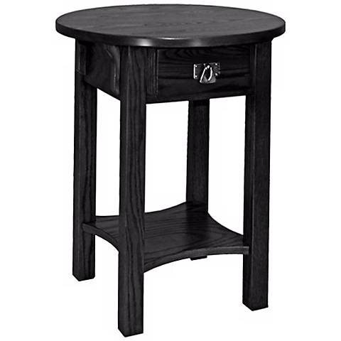 Leick Furniture Anyplace Slate Finish Round Side Table