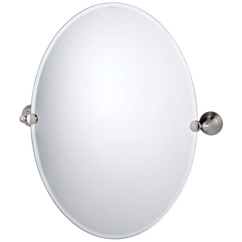 "Gatco Charlotte Satin Nickel 23"" x 26 1/2"" Tilt Wall Mirror"