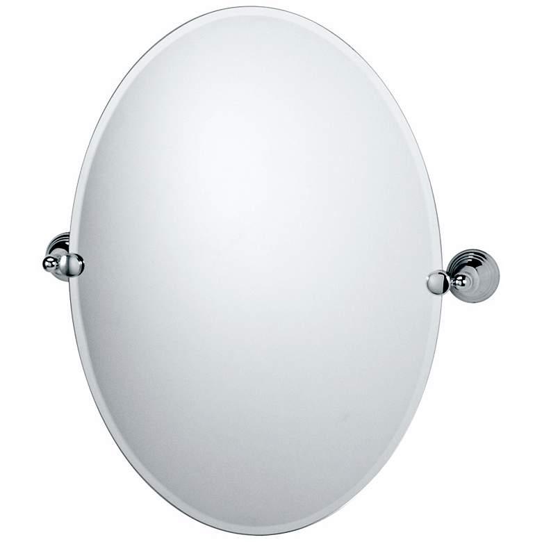 Gatco Charlotte Polished Chrome Finish Oval Tilt Wall Mirror