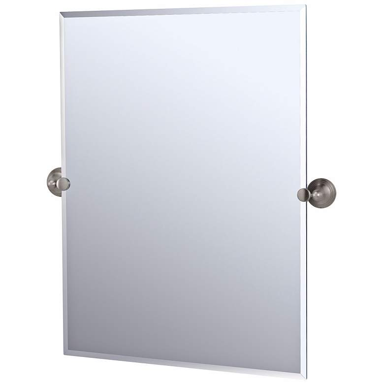 Gatco Charlotte Satin Nickel Rectangular High Wall Mirror