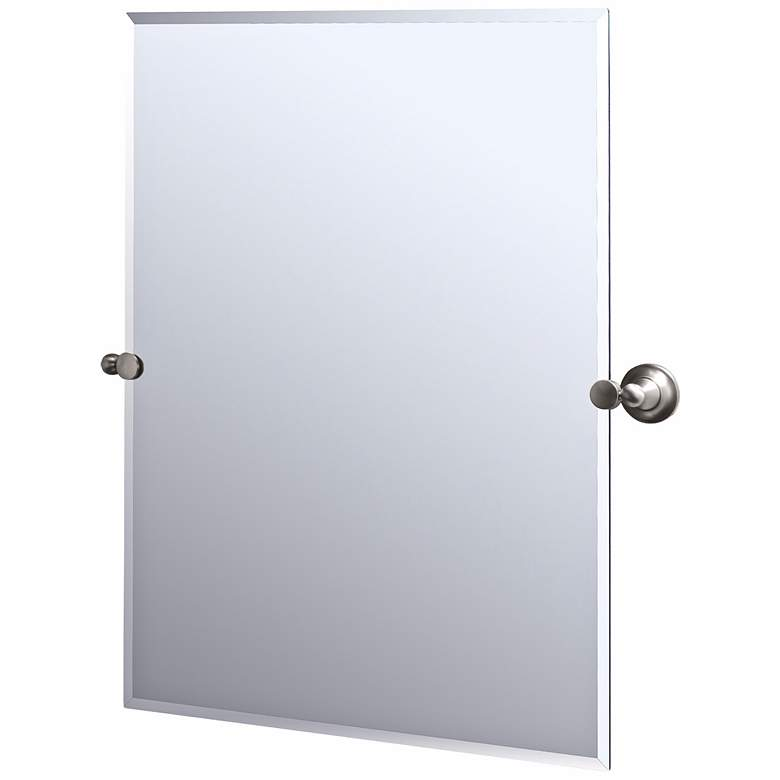 Gatco Tiara Satin Nickel Finish Rectangular Tilt Wall Mirror