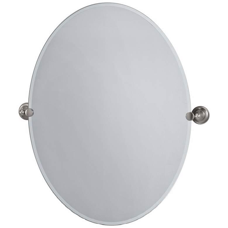 "Gatco Tiara Satin Nickel 28"" x 32"" Frameless Wall Mirror"