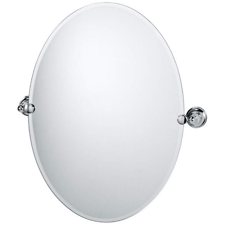 "Gatco Tiara Chrome 24"" x 26"" 1/2 Oval Wall Mirror"