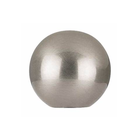 Brushed nickel finish round lamp shade finial p5508 lamps plus brushed nickel finish round lamp shade finial mozeypictures Gallery