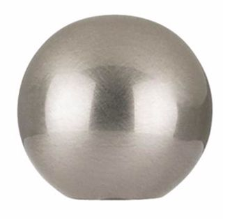 Superb Brushed Nickel Finish Round Lamp Shade Finial