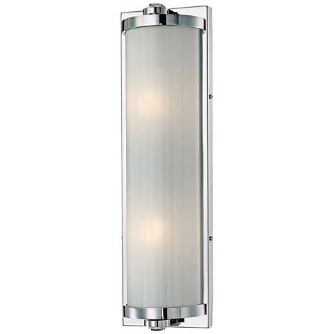 "Hyllcastle 18"" Wide Chrome Bath Light"