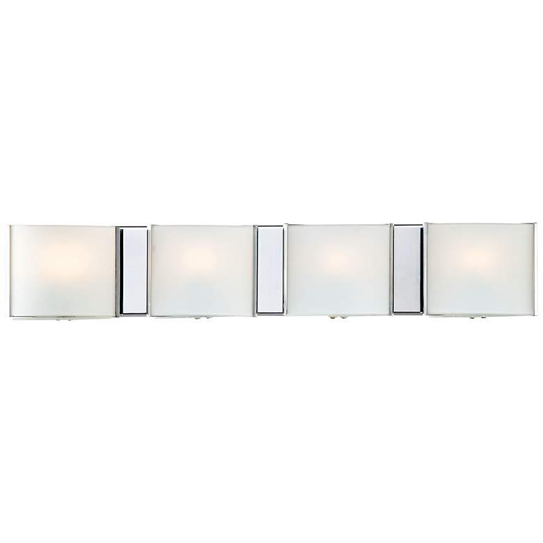 """Frosted Glass Bands 26 1/2"""" Wide Bathroom Wall Light"""