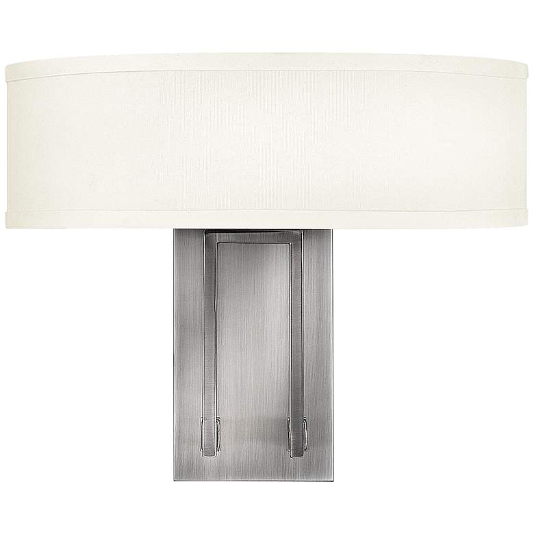 "Hampton 15"" Wide Antique Nickel Wall Sconce by Hinkley"