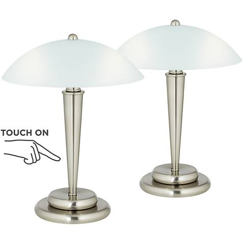 "Deco Dome 17"" High Touch On-Off Accent Lamps - Set of 2"