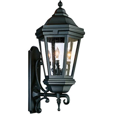 "Verona 35"" High Matte Black Outdoor Wall Light"