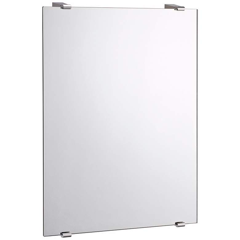 "Gatco Bleu Chrome 22"" x 31"" Rectangular Wall Mirror"