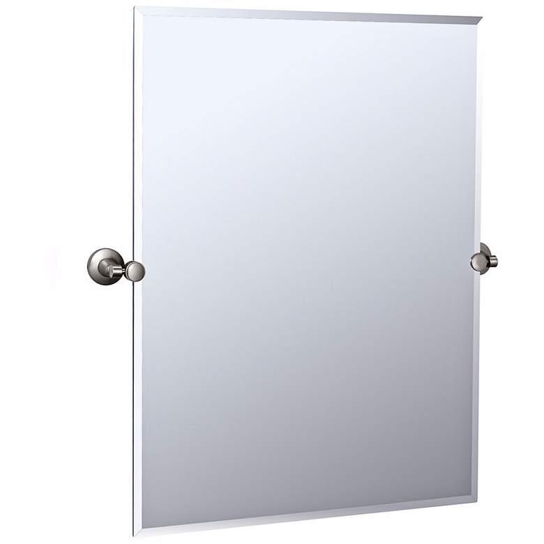"Gatco Max Satin Nickel 27 3/4"" x 31 1/2"" Tilting Wall Mirror"