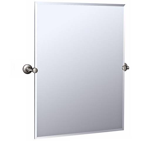 "Gatco Max Satin Nickel 27 3/4"" x 31 1/2"" Wall Mirror"