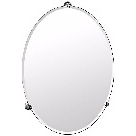 Gatco Oldenburg Chrome Finish Oval Wall Mirror
