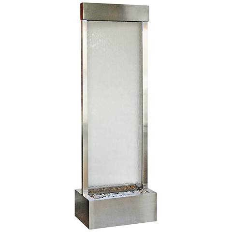 "Gardenfall 90"" LED Clear Glass Indoor/Outdoor Steel Fountain"