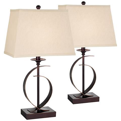 Set of 2 Nokko Open Base Table Lamps