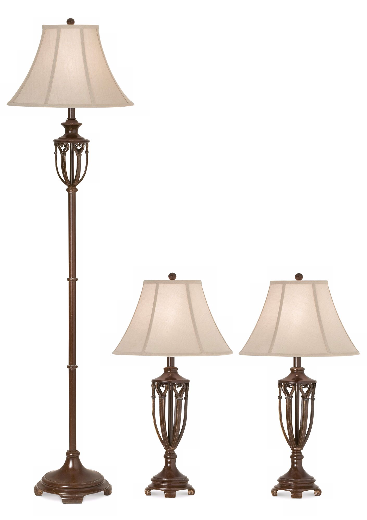 Kathy Ireland Estate Collection Table and Floor L& Set  sc 1 st  L&s Plus & Kathy Ireland Estate Collection Table and Floor Lamp Set - #P7677 ...