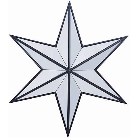"Baxter Aged Black 31 1/2"" x 31 1/2"" Star Shape Wall Mirror"