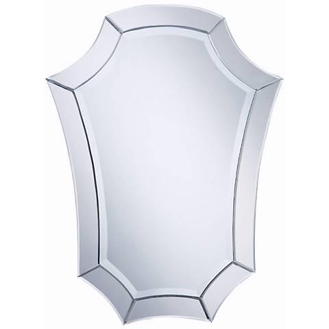 "Nouveau Shield 24"" x 32"" Wall Mirror"