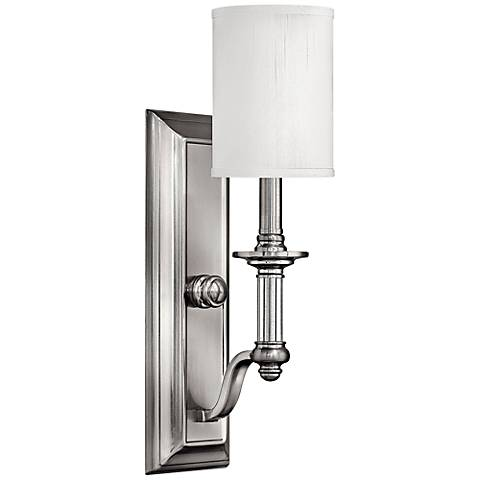 """Hinkley Sussex 17 3/4"""" High Brushed Nickel Wall Sconce"""