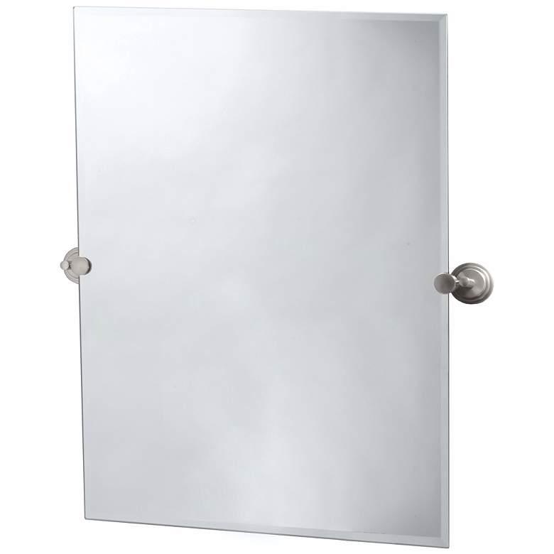 "Gatco Marina Satin Nickel 28"" x 31 1/2"" Tilt Wall Mirror"