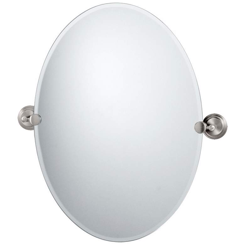 "Gatco Marina Satin Nickel 26 1/2"" High Tilt Wall Mirror"