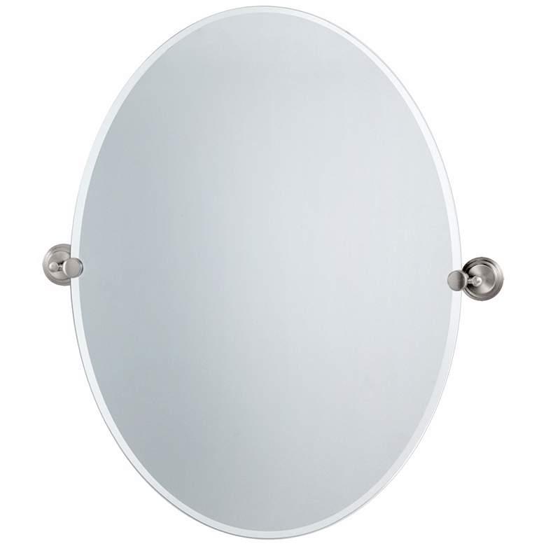 "Gatco Marina Satin Nickel 28 1/2"" x 32"" Tilt Wall Mirror"