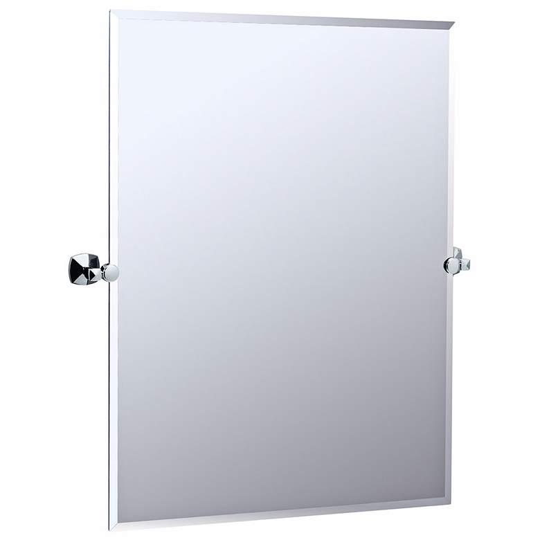 "Gatco Jewel Chrome Finish 31 1/2"" High Tilt Wall Mirror"