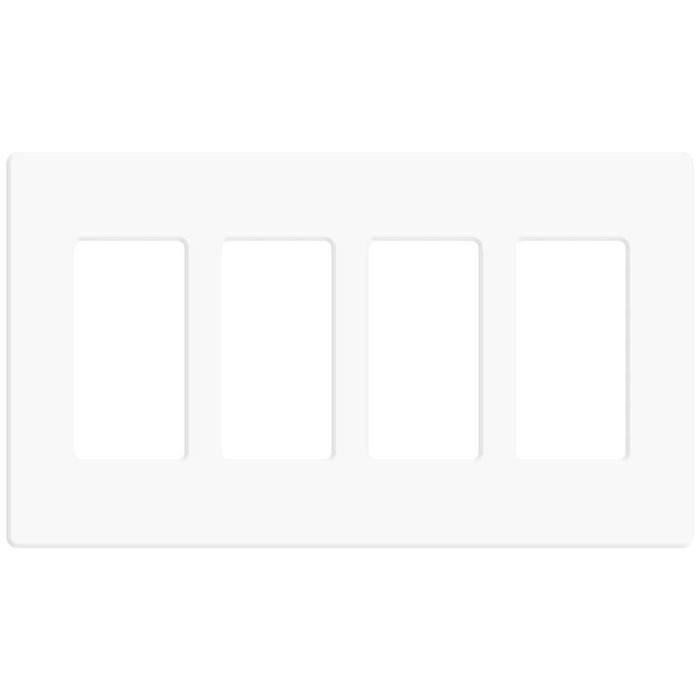 Leviton Decora Plus White 4-Gang Screwless Faceplate