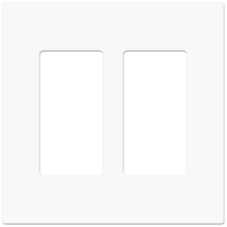 Leviton Decora Screwless White Double Wallplate