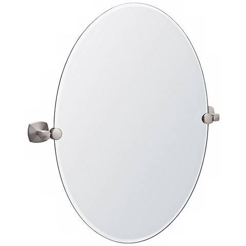 "Gatco Jewel Satin Nickel 24"" x 26 1/2"" Tilt Wall Mirror"
