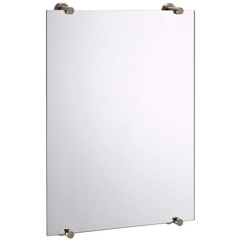 "Gatco Latitude II Satin Nickel 22"" x 32"" Wall Mirror"