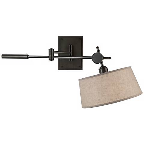 Robert Abbey Miles Bronze Boom Plug-In Wall Light