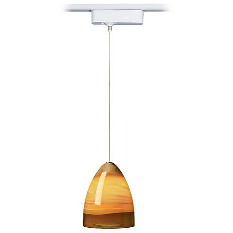 Nebbia Amber Glass LED Tech Pendant for Juno Track Systems