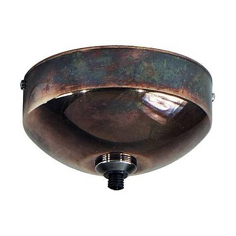 """Tech Lighting Freejack Rust 4 1/2"""" Wide Surface Canopy"""