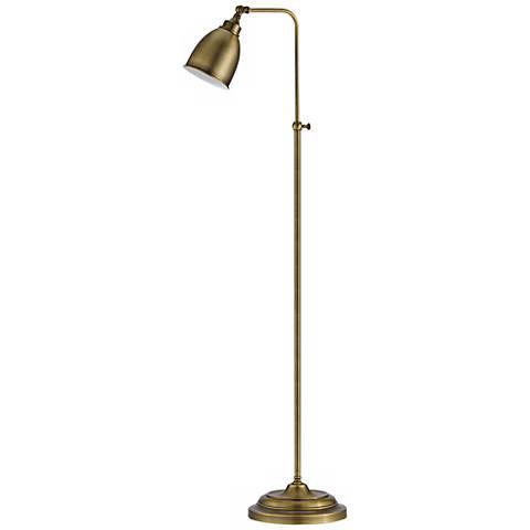Antique brass metal adjustable pole pharmacy floor lamp p9563 antique brass metal adjustable pole pharmacy floor lamp aloadofball Choice Image
