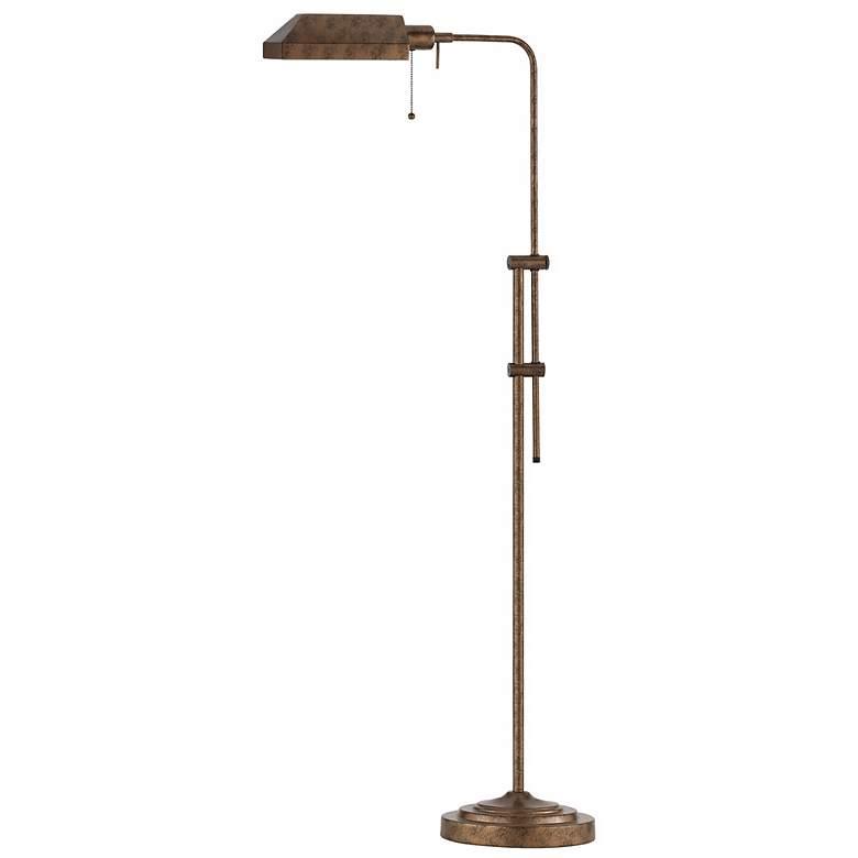 Pharmacy Rust Metal Adjustable Pole Floor Lamp